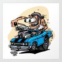 Hot Rod Beret Art Print