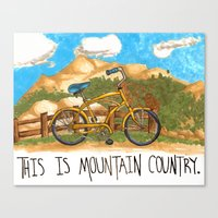 You're in the mountain country, son. Canvas Print