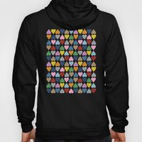 Diamond Hearts On Black Hoody