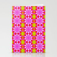 Flower Power Pattern Stationery Cards