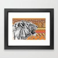 White Tiger Profile G001… Framed Art Print