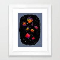 DIAMONDS IN THE SKY Framed Art Print