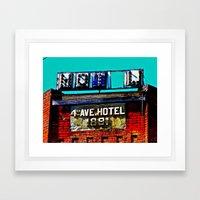 4th Avenue Hotel Framed Art Print