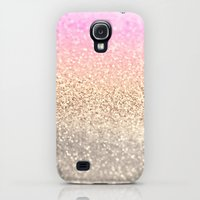 Galaxy S4 Cases featuring GOLD PINK by Monika Strigel