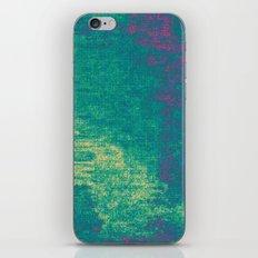 21-74-16 (Aquatic Glitch) iPhone & iPod Skin