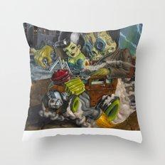 Monster ride. Throw Pillow