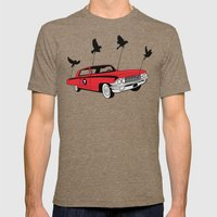 Four Wheel Fly Mens Fitted Tee Tri-Coffee SMALL