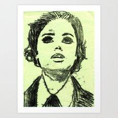 Monoprinted Woman Art Print