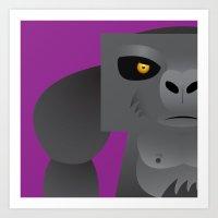 Deadly Ape Art Print