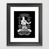 Vintage Boxing - Black E… Framed Art Print