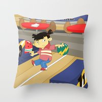 Non Olympic Sports: Bowling Throw Pillow