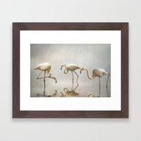 Flamingo mist Framed Art Print