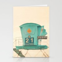 beach photograph, lifeguard stand. No. 21 Stationery Cards