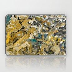 Marble Golden Planet Laptop & iPad Skin