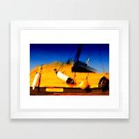 Smeared Boat Framed Art Print