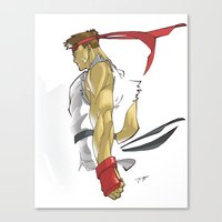 The Street Fighter Canvas Print