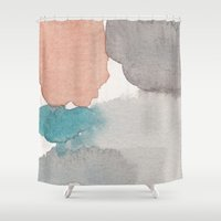 Water and color 22 Shower Curtain