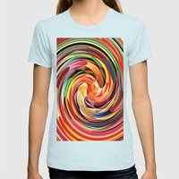 Colors Womens Fitted Tee Light Blue SMALL