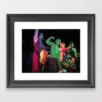 City Light Drive Framed Art Print
