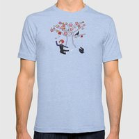 Memory Tree Mens Fitted Tee Tri-Blue SMALL