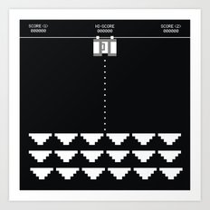 Briefs Invaders Art Print