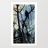 on a Winter's wing... Art Print