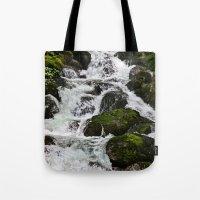 Cascades Below Tote Bag