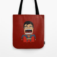 Screaming Superdude Tote Bag