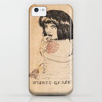 iPhone 5c Cases featuring Wicked Grace by JWilson Illustration