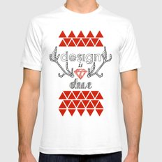 design is chic SMALL Mens Fitted Tee White