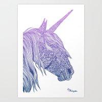 Groovy Unicorn Art Print