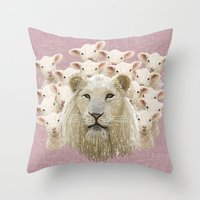 Lambs Led By A Lion Throw Pillow