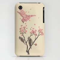 iPhone 3Gs & iPhone 3G Cases featuring Blossom Bird  by Terry Fan