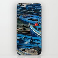 Blue Boats iPhone & iPod Skin