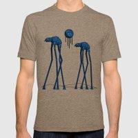 Dali's Mechanical Elephants - Blue Sky Mens Fitted Tee Tri-Coffee SMALL