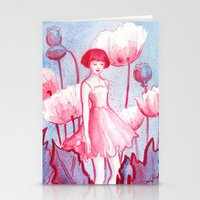 Pink Poppy Stationery Cards