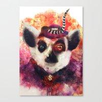 Lemur ( The Pimp Le-Mur … Canvas Print