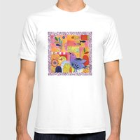 Indigo Bird Mens Fitted Tee White SMALL