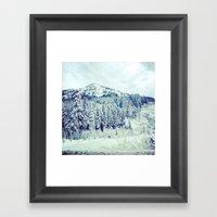 Snowy Mountain Framed Art Print