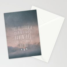 III. Life is either a daring adventure or nothing at all Stationery Cards