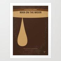 No675 My Man on the Moon minimal movie poster Art Print