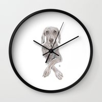 Weimaraner Therapy Wall Clock