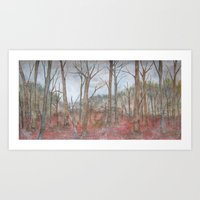 American Winter Forest Art Print