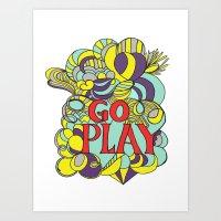Go Play Art Print