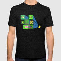 MANY FACE Mens Fitted Tee Tri-Black SMALL