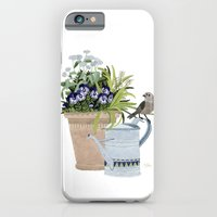 Pansies in a pot iPhone 6 Slim Case