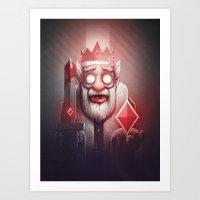 King of Doom Art Print