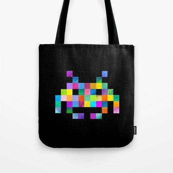 Cubist Invader Tote Bag