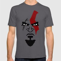 Kratos Face Mens Fitted Tee Asphalt SMALL