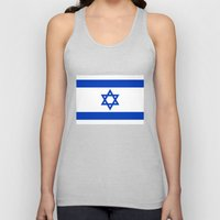 The National flag of the State of Israel Unisex Tank Top